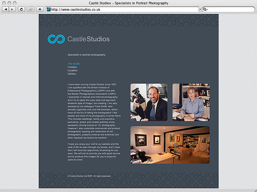 Castle Studios: Website Design