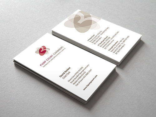 Pump Court Chambers: Business Card Design